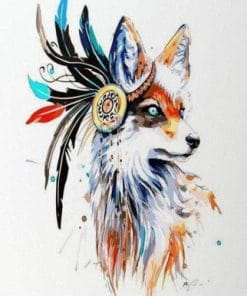Buy Tribal Fox - Native America - Animals Paint By Number kit or check our new modern collections for adults paint by numbers paint by numbers
