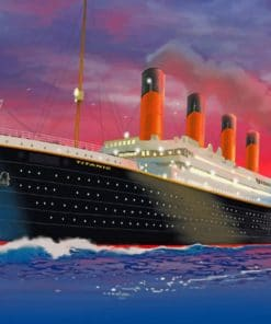 Titanic Ship At Sunset paint by numbers