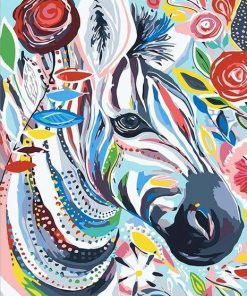 zebra paint by numbers