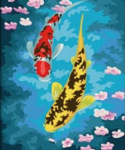 Fishes And Lotus paint by numbers
