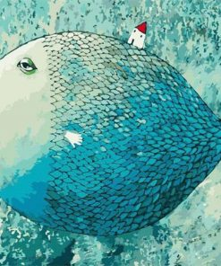 Blue Fish paint by numbers