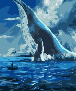 Big Blue Whale Paint by numbers