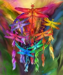 Colorful Dragonfly paint by numbers