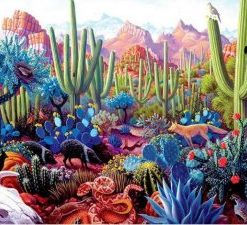 Colorful Succulents Desert paint by numbers
