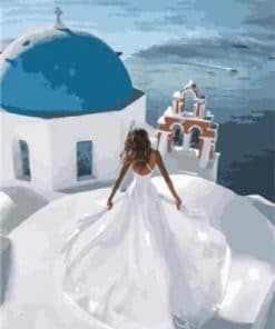 The Santorini Bride paint by numbers