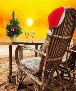 Christmas On Sand Beach