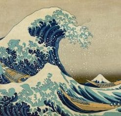 The Great Wave paint by numbers