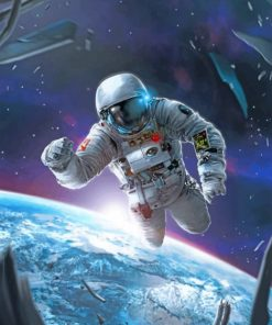 Astronaut In The Space Paint by numbers