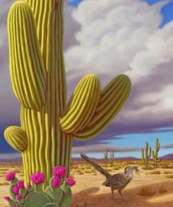 Cactus And Bird paint by numbers