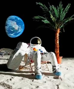 Chilling Astronaut paint by numbers