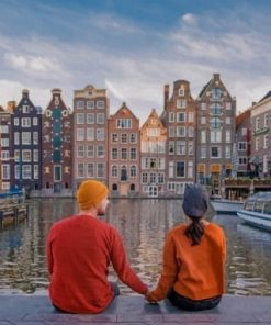 Couple In Amsterdam paint by numbers