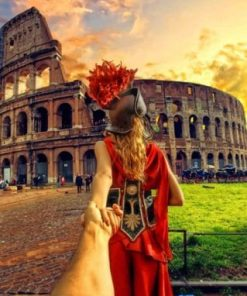 Follow Me To Colosseum Italy paint by number