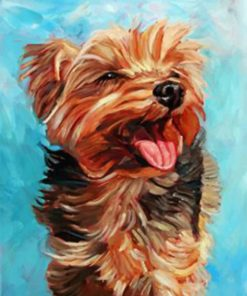 Happy Yorkie Paint by numbers