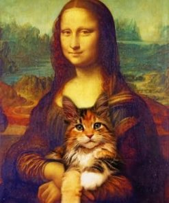 Mona Lisa And Her Cat paint by numbers