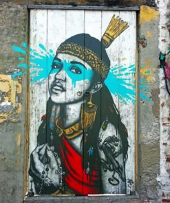 Native Woman Banksy Paint by numbers