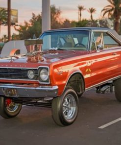 Muscle Car With Hydraulic System Paint by numbers