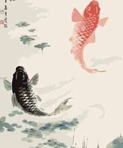 Chinese Koi Fish paint by numbers