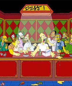 Simpson The Last Supper Paint by numbers