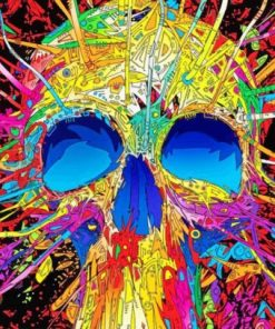 Skull Colorful Art paint by numbers