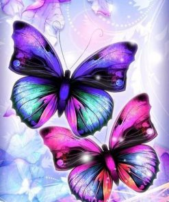 Bright Butterflies paint by numbers