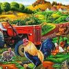 Animals In Farm Field Paint by numbers