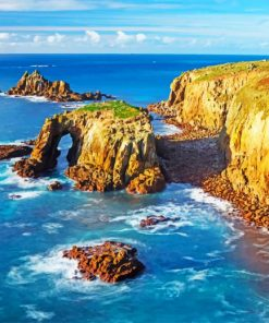 Cliffs Of England Cornwall Paint by numbers