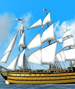 HMS Victory Ship Paint by numbers