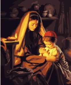 Mother And Child Prayer Paint