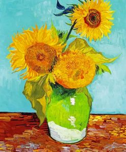 Vincent Van Gogh Three Sunflowers Paint by numbers