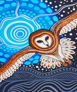 Aboriginal Owl Paint by numbers