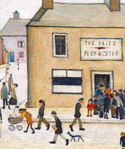 Aesthetic L S Lowry Paint by numbers