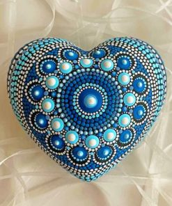 Aesthetic Mandala Heart Paint by numbers