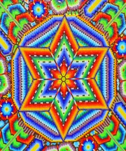 Aesthetic Mandala Mexican Folk Art Paint by numbers