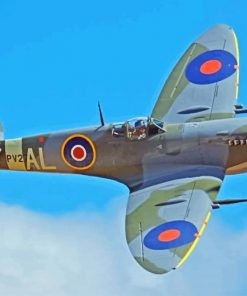 Aesthetic Spitfire paint by numbers