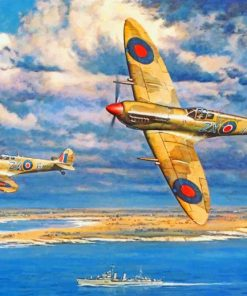 Aesthetic Spitfire Airplanes Paint by numbers