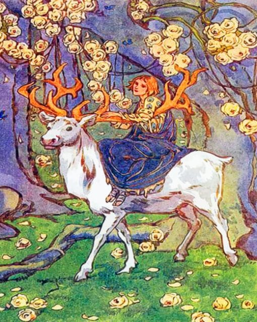 Aesthetic White Stag paint by numbers