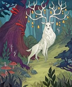 Aesthetic White Stag paint by number