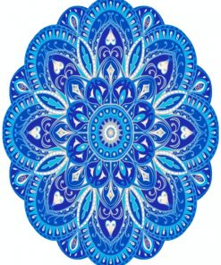 Blue Mandala Paint by numbers