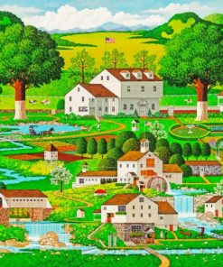 Charles Wysocki Country Garden Paint by numbers