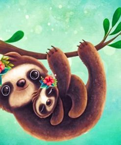 Cute Sloths Paint by numbers