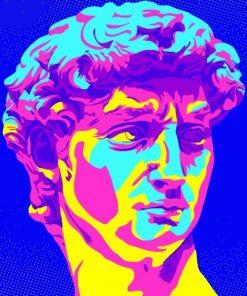 David Michelangelo Pop Art Paint by numbers