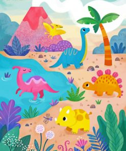Dinosaurs Illustration paint by number