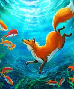 Fox Underwater paint by number