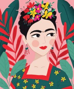 Frida Kahlo Illustration Paint by numbers