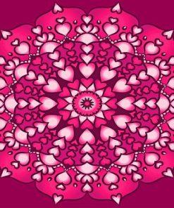 Heart Mandala Paint by numbers