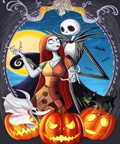 Jack And Sally Paint by numbers