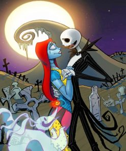 Jack Skellington And Sally Paint by numbers