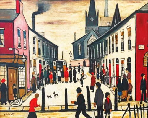 Lowry Art paint by numbers