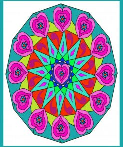 Mandala Heart paint by numbers