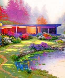 Modern House Kinkade Paint by numbers